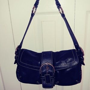 COACH BLACK SOFT LEATHER SATCHEL HANDBAG
